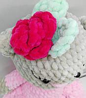 Детская мягкая игрушка кошка в платьте  игрушка ручной работы кошка для девочек