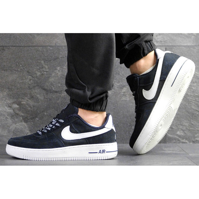 5bdbe86f Мужские кроссовки Nike Air Force 1 Low NBA темно-синие с белым р.42 ...