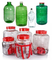 Стеклянные бутылки и бутыля