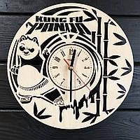 Детские настенные деревянные часы «Кунг-фу панда»