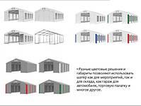Шатер 5х10 с мощным каркасом для склада гараж палатка ангар намет павильон садовый кафе 5 на 10, фото 10