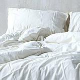 Комплект постільної білизни з вареного бавовни полуторний розмір LIMASSO SNOW WHITE STANDART, фото 2