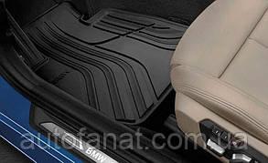 Комплект оригинальных ковриков салона для BMW 1 (F20, F21) резиновые черные (51472210208)