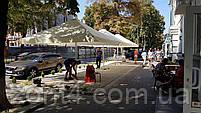 Тент на зонт 4х4 метра торговый, барный для кафе, садовый, уличный, замена тентов, фото 3