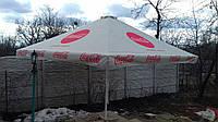 Тент на зонт 4х4 метра торговый, барный для кафе, садовый, уличный, замена тентов