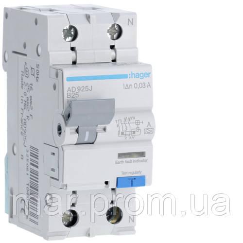 Дифференциальный автоматический выключатель 1P + N 6kA B-25A 30mA A