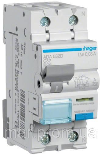 Дифференциальный автоматический выключатель 1P + N 10kA C-32A 30mA A