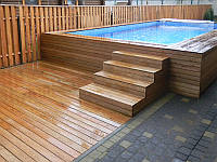 Палубная доска Лиственница 27, массивная доска для деревянного настила, фото 1