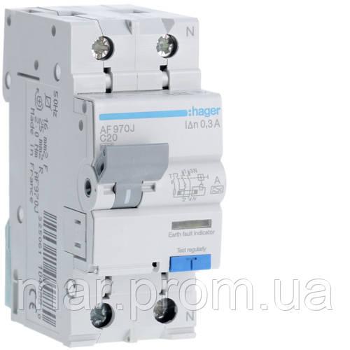Дифференциальный автоматический выключатель 1P + N 6kA C-20A 300mA A