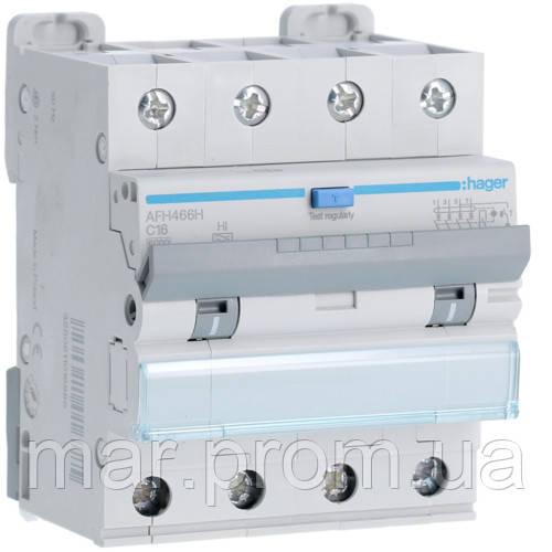 Дифференциальный автоматический выключатель 4P 6kA C-10A 300mA Hi
