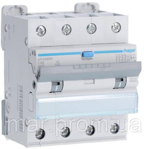 Дифференциальный автоматический выключатель 4P 6kA C-40A 300mA Hi
