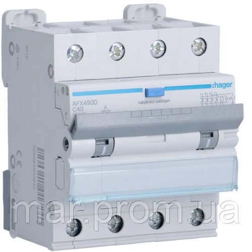 Дифференциальный автоматический выключатель 4P 10kA C-40A 300mA A