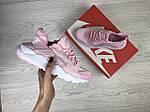 Женские кроссовки Nike Huarache (розовые), фото 4