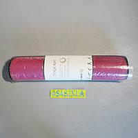 Коврик для фитнеса и йоги Yoga Mat Zelart (TPE+NY 5мм) розовый
