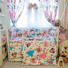 Детское постельное белье в кроватку Комфорт, комплект 8 предметов Минни Маус
