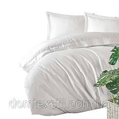 Cotton box постельное  белье сатиновое евро.Белый
