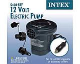 Насос электрический Intex 66626 от прикуривателя 12В, 600л/мин, фото 5