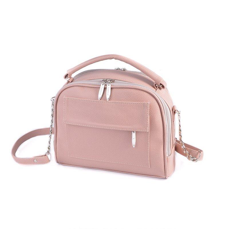 4b7bb15949eb Розовая маленькая сумка М200-65 пудровая кросс-боди через плечо, фото 1