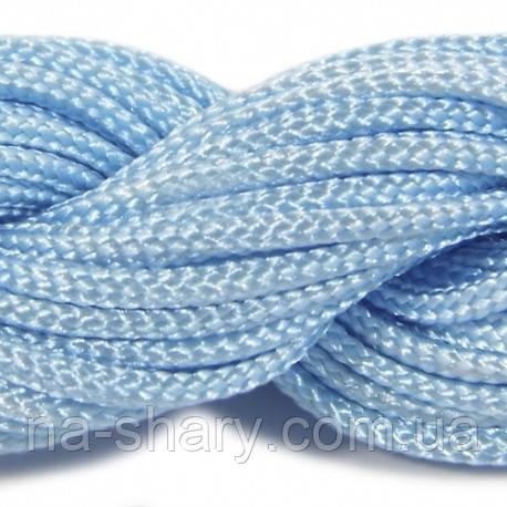 Шнур нейлоновый 4мм. голубой (100м)