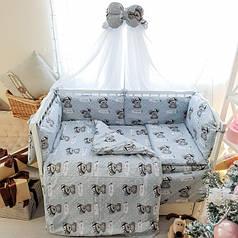 Детское постельное белье в кроватку Комфорт, комплект 8 предметов Boy