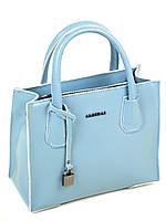 Сумка Женская Классическая кожа 1527  light-blue.Купить  кожаную женскую сумку, фото 1