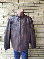 a7e0a3bd8d9f Куртка мужская очень больших размеров из экокожи высокого качества FUDIRO