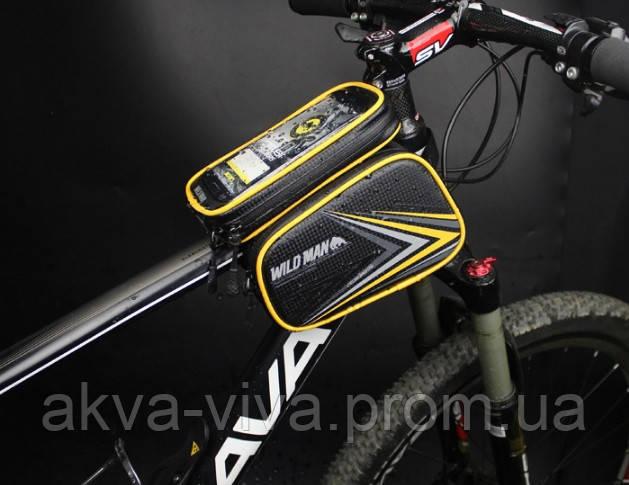 Велосумка на раму с отделом для смартфона (ВС-111)
