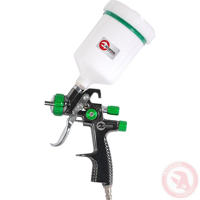 LVLP GREEN NEW Професійний фарборозпилювач 1,3 мм, верхній пластиковий бачок 600 мл, мах 1,5