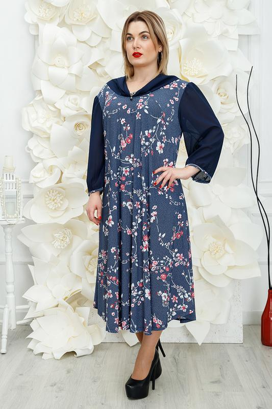 Платье женское большие размеры:62-68