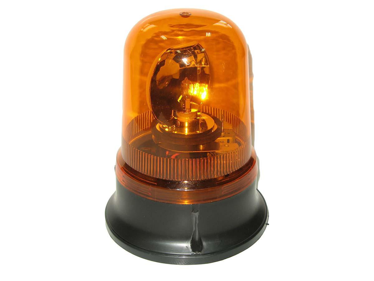 Мигалка круглая TR 503-3 24V (H1/55W) желтая врезная