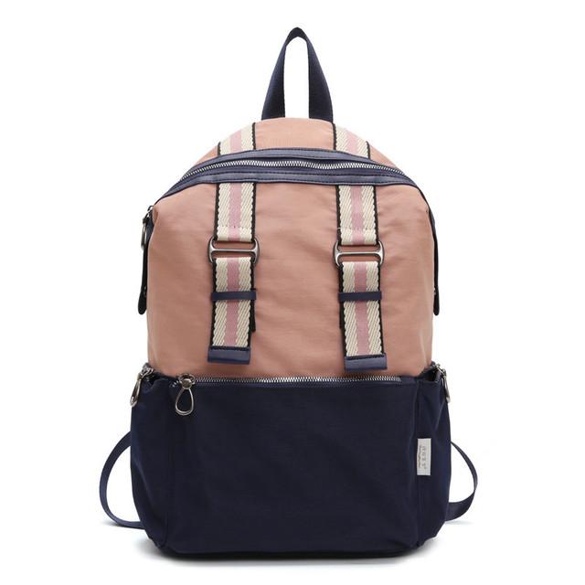 Нейлоновый городской рюкзак розовый
