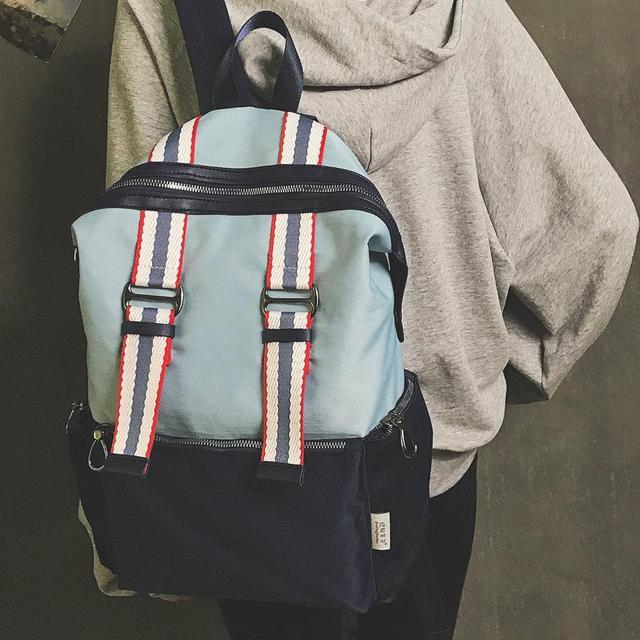 Нейлоновый городской рюкзак синий