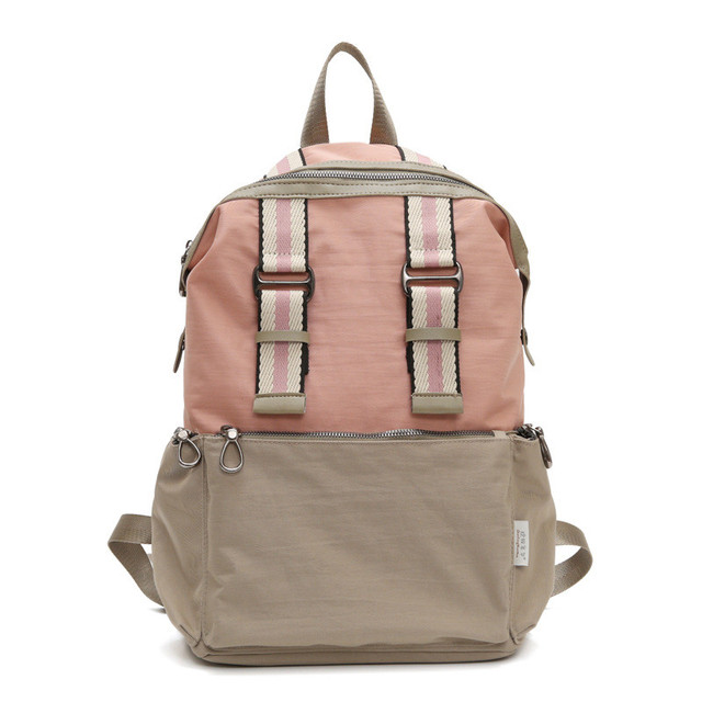 Нейлоновый городской рюкзак бежевый