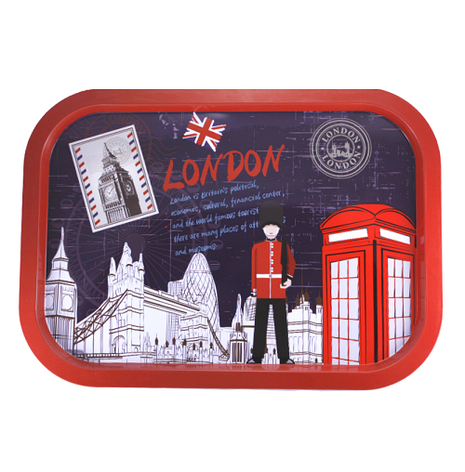"""Поднос прямоугольный металлический """"London"""", красный, фото 2"""