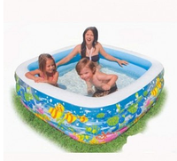 Детский бассейн аквариум.Товары для пляжного отдыха.Бассейны надувные Интекс.