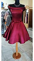 Платье коктейльное бордо, фото 1