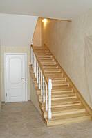 Деревянная лестница с бука для дома и дачи