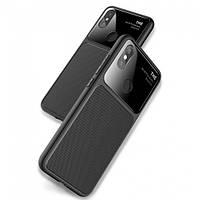 Чехол-накладка Lenuo для Xiaomi Redmi S2 силиконовый закаленный стеклянный объектив Black
