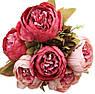 Штучні квіти піони з шовку красиві декор для дому, фото 2
