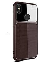 Чехол-накладка Lenuo для Xiaomi Redmi S2 силиконовый закаленный стеклянный объектив коричневый