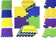 Детский теплоизоляционный игровой коврик – пазл, 12 элементов, 1920×1440×10мм, 2,7м² ХС ППЭ 55кг/м³