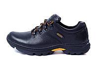 Мужские кожаные кроссовки  Ecco Tracking (реплика)