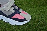 Детские кроссовки сетка Adidas Yeezy 700 фиолетовый розовый адидас , копия, фото 9