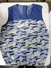 Блуза дівч Mevis 1429-01, 122 джинс