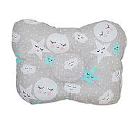Подушка бабочка для новорожденных DavLu Сладкий сон 30х22 см серый (P-042)