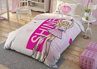 Детское подростковое постельное белье TAC Disney Barbie Ballet Ранфорс