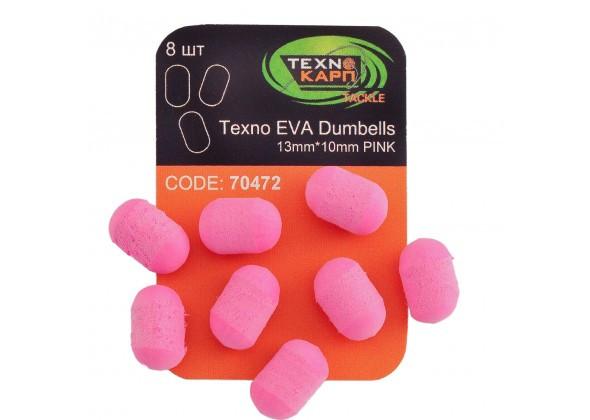 Texno EVA Dumbells 13mm*10mm pink уп/8шт