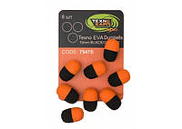 Texno EVA Dumbells 13mm*10mm black/orange уп/8шт