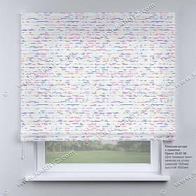 Римская фото штора Штрихи. Бесплатная доставка. Любой размер до 3,5х3,5м. Гарантия. Арт. 15-07-39