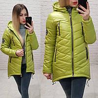 Куртка парка арт. 300  салатовая